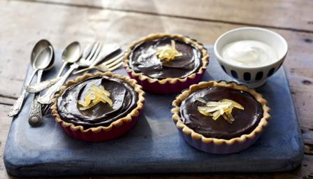 Wheat chocolate tarts