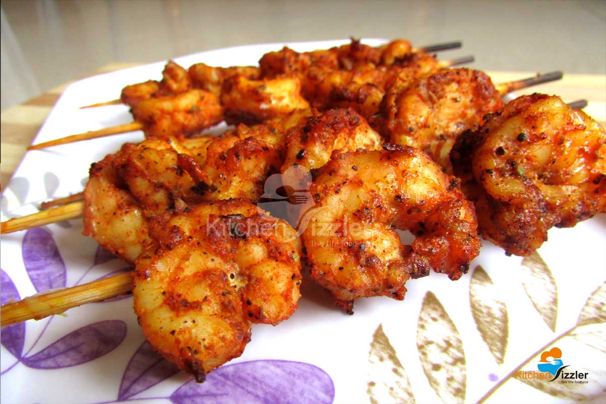 Grilled Prawns With Mixed Herbs