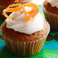 Wheat carrot cup cakes